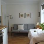 Living Room at main apartment in Reykjavik